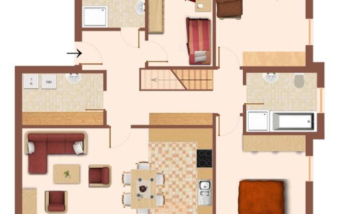 Grundriss der Dachgeschosswohnung