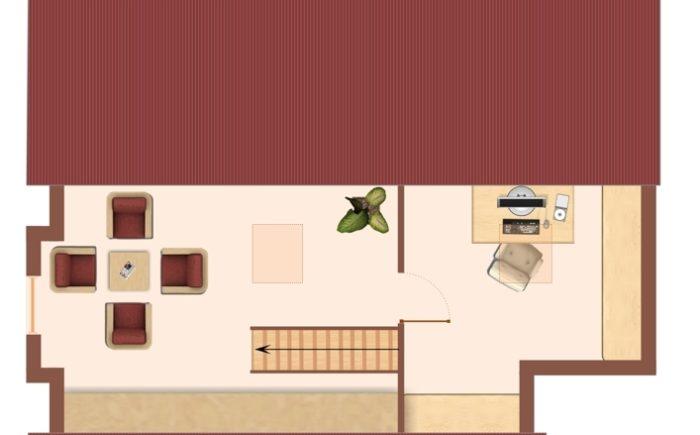 Grundriss des ausgebauten Spitzbodens