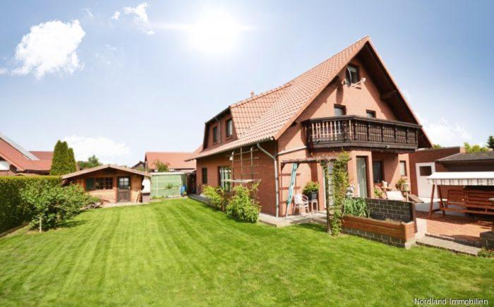 Garten und Terrasse in Westausrichtung