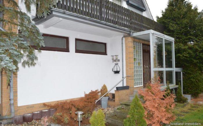 Nordansicht, Eingang Wohngebäude