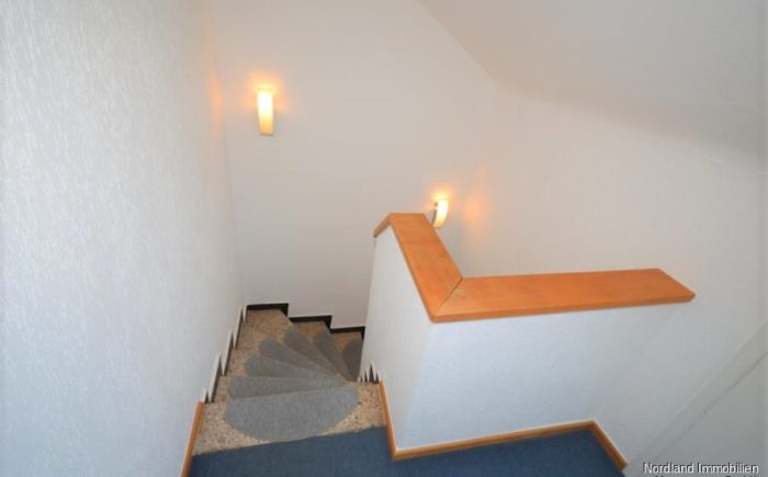 Treppe und Flur im Dachgeschoss